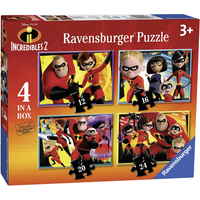 Ravensburger 4-in-1 Box Jigsaw Puzzles - Disney Pixar The Incredibles - Puzzles Gifts