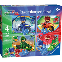 Ravensburger 4-in-1 Box Jigsaw Puzzles - PJ Masks - Puzzles Gifts