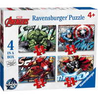 Ravensburger 4 in a Box Puzzles - Marvel Avengers - Puzzles Gifts