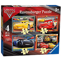 Ravensburger Cars 3 - 4 In A Box Jigsaw Puzzle - Jigsaw Puzzle Gifts
