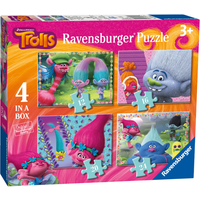 Ravensburger 4 in a Box Puzzles - DreamWorks Trolls - Puzzles Gifts