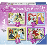 Ravensburger Disney Princess 4 In a Box Puzzles - Palace Pets Gifts