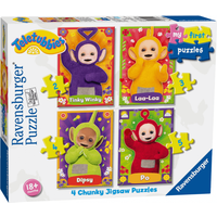 Ravensburger 4 in a Box Chunky Jigsaw Puzzles - Teletubbies - Puzzles Gifts