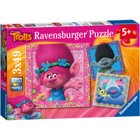 Ravensburger DreamWorks Trolls 3 x 49 Piece Puzzles - Puzzles Gifts