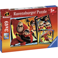 Ravensburger 3*49pcs Jigsaw Puzzles - Disney Pixar The Incredibles 2 - Jigsaw Gifts