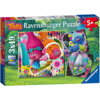 Ravensburger Trolls, 3x 49pc Jigsaw Puzzles - Puzzles Gifts