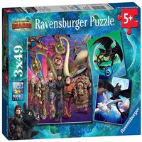 Ravensburger How to Train Your Dragon - 3x 49pc Jigsaw Puzzles - Puzzles Gifts