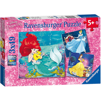 Ravensburger Disney Princess 3 X 49 Piece Puzzles - Ravensburger Gifts