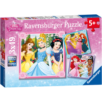 Ravensburger Disney Princess 3x49 Piece Puzzles - Puzzles Gifts