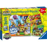 Ravensburger Teenage Mutant Ninja Turtles Half-Shell Heroes 3x49 Piece Puzzles - Puzzles Gifts