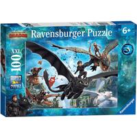 Ravensburger Dragons: Hidden World XXL - 100 Pieces Puzzle - Ravensburger Gifts
