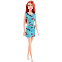 Barbie Basic Doll - Ginger with Blue Dress - Barbie Gifts