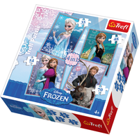 Disney Frozen 4 In 1 Jigsaw Puzzle Set - 35/48/54/70 Pieces - Jigsaw Puzzle Gifts