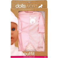 Dolls World Outfit - Bunny Baby Grow - Babygrow Gifts