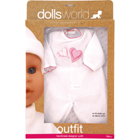 Dolls World Outfit - Love Hearts Baby Grow - Babygrow Gifts