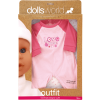 Dolls World Outfit - Love & Peace Baby Grow - Babygrow Gifts
