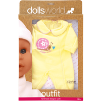 Dolls World Outfit - Happy Snail Baby Grow