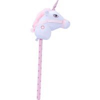 Pitter Patter Pets Giddy Up Hobby Horse - White Unicorn - Pets Gifts