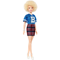 Barbie Fashionistas Doll - Jersey Play Skirt with Blonde Afro Hair - Barbie Gifts