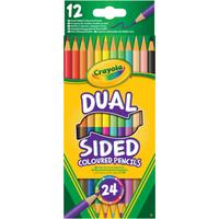 Crayola Dual Sided 24 Coloured Pencils - Crayola Gifts