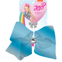 JoJo Siwa 20cm Metallic Faux Leather Bow And Necklace Set - Turquoise - Turquoise Gifts