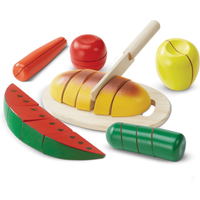 Cut & Slice Wooden Play Food