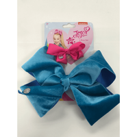 JoJo bow 2 pack with standard size velvet bow Turquoise - Turquoise Gifts