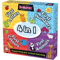 BrainBox 4 in 1 Pre-School Learning Game - Learning Gifts