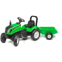 Falk Master Ride on Tractor and Trailer - Green - Ride On Gifts
