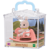 Sylvanian Families Baby Carry Case - Rabbit on Rocking Horse - Horse Gifts