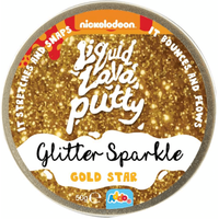 Nickelodeon Liquid Lava Putty Glitter Gold Star