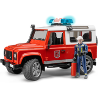 Bruder Land Rover Defender Station Wagon Fire Department vehicle - Land Rover Gifts