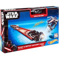 Hot Wheels Star Wars Lightsaber Blast & Battle - Darth Vader Vehicle Launcher - Darth Vader Gifts