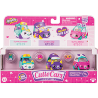 Shopkins Cutie Cars 3 Pack - Speedy Style Collection - Disney Cars Gifts