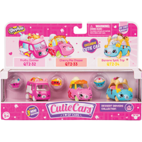 Shopkins Cutie Cars 3 Pack - Dessert Drivers Collection - Disney Cars Gifts