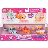 Shopkins Cutie Cars 3 Pack - Breakfast Beeps Collection - Disney Cars Gifts