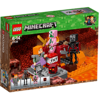 Click to view product details and reviews for Lego Minecraft the Nether Fight 21139.