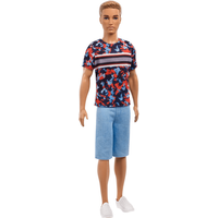 Barbie Fashionistas Ken Doll - Colourful Camo Top - Barbie Gifts