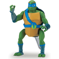 Rise of The Teenage Mutant Ninja Turtles Deluxe Ninja Attack Action Figure - Leonardo Backflip Attack - Teenage Mutant Ninja Turtles Gifts