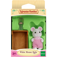 Sylvanian Families - White Mouse Baby - Sylvanian Families Gifts