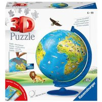 Ravensburger Childrens World Globe 3D Jigsaw Puzzle - 180pc - Ravensburger Gifts