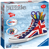 Ravensburger British Flag Sneakers 3D Jigsaw Puzzle - 108pc - Jigsaw Puzzle Gifts