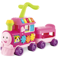 Walker Ride-on Learning Train- Pink - Learning Gifts