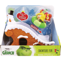 The Grinch - Grinch Whoville 2 Figure Playset - Snowtube Fun - Fun Gifts