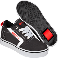 Heelys - Size 3 - GR8 Pro Black, White and Red - Heelys Gifts
