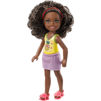 Barbie Club Chelsea 15cm Doll - Brunette with Pineapple Print Top - Chelsea Gifts