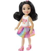 Barbie Club Chelsea 15cm Doll - Brunette with Cat Outfit - Chelsea Gifts
