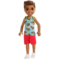 Barbie Club Chelsea 15cm Boy Doll - Food Theme Outfit - Chelsea Gifts
