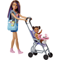 Barbie Skipper Babysitters Doll and Stroller Playset - Barbie Gifts