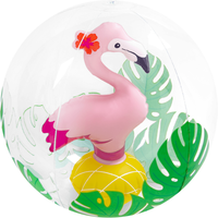 Inflatable 3D 30cm Pool Toy - Beach Ball (Styles Vary) - Beach Gifts